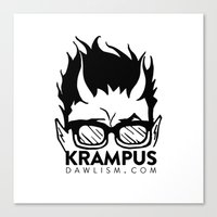 Krampus Logo By Dawlism Canvas Print