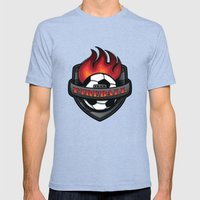 Team Fireball Mens Fitted Tee Tri-Blue SMALL