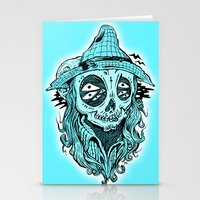 scared crow Stationery Cards