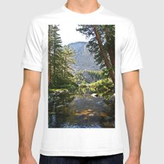 Mountain Stream SMALL Mens Fitted Tee White