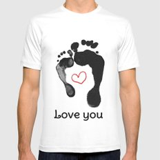 Love you SMALL Mens Fitted Tee White