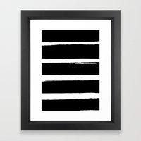 BLK Stripes Framed Art Print