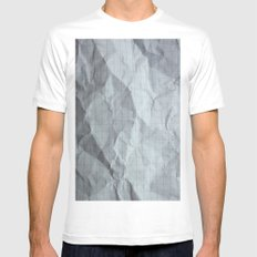 Graphic SMALL White Mens Fitted Tee