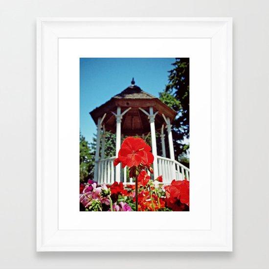 Gazebo flower Framed Art Print
