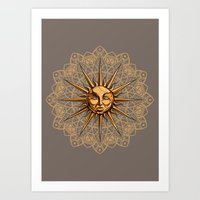 Golden: Radiance  Art Print