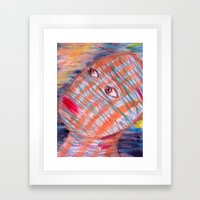 Plaid Head2 Framed Art Print