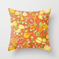 Citrus Squeeze Throw Pillow