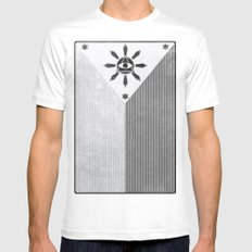 Happy Independence Day SMALL White Mens Fitted Tee