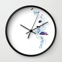 Adrift In Glitch Wall Clock