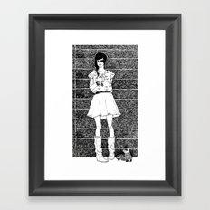 Two's a pair Framed Art Print