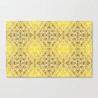 Random Rope On Gold Foil Canvas Print