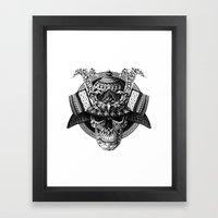 Samurai Skull Framed Art Print