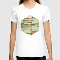 abstract T-shirts featuring Bookworm by Cassia Beck
