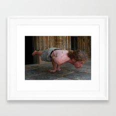 Yoga Asana Mayurasana D Framed Art Print