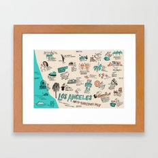 Anti-Boredom Map  Framed Art Print