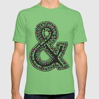 Aztec Ampersand.  Mens Fitted Tee Grass SMALL