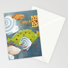 Clovis chasing the fish Stationery Cards