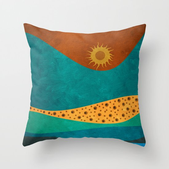color under the sun (II) Throw Pillow
