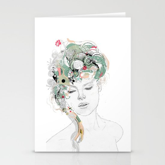 Beauty waiting Stationery Card