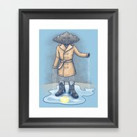 I think it only made it rain more Framed Art Print