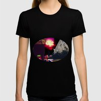 Collage Womens Fitted Tee Black SMALL