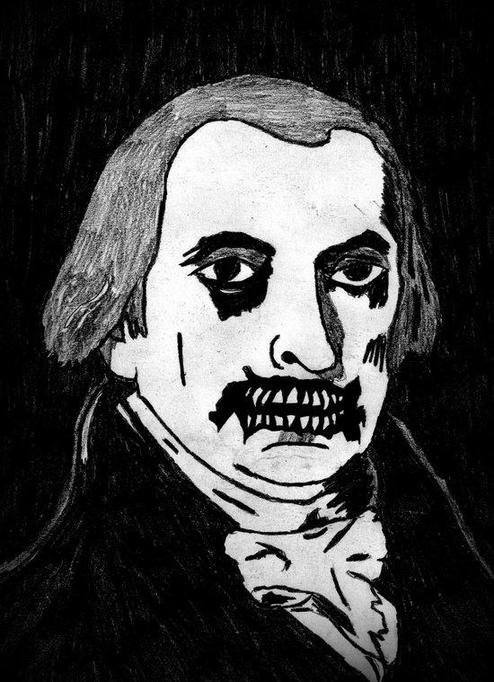 04. Zombie James Madison  Art Print