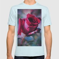 Open your heart  Mens Fitted Tee Light Blue SMALL