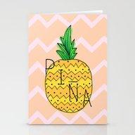 La Pineapple Stationery Cards