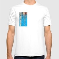 Harbor Watercolors Mens Fitted Tee White SMALL