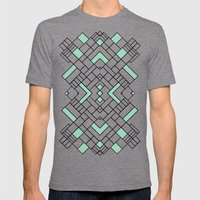 PS Grid 45 Mint Mens Fitted Tee Tri-Grey SMALL