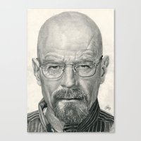 Bryan Cranston ~ Walter … Canvas Print