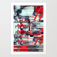 Glitch Decon 1 Art Print