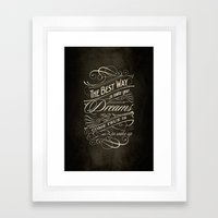 The Best Way - Typography Framed Art Print