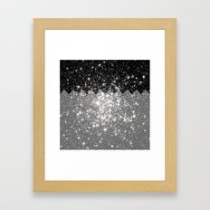 Chevron Universe Framed Art Print
