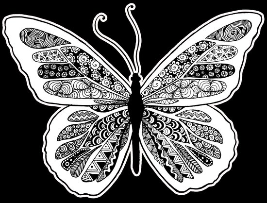 zentangle butterfly design