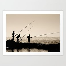 Three Fishermen Art Print