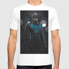 Nightwing 02 SMALL White Mens Fitted Tee