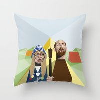 Nuts in May (West Country Gothic) Throw Pillow