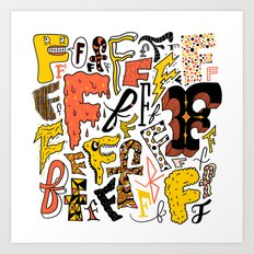 F's Art Print