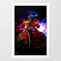 Violin Nebula Art Print