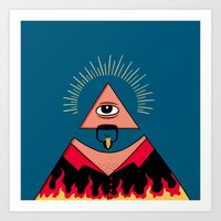 The All Seeing Eye Fieri… Art Print