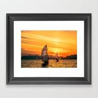 Sun Wind Framed Art Print