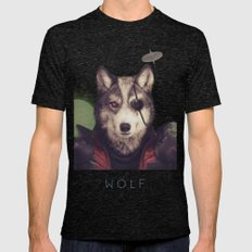 Star Team - Wolf Mens Fitted Tee Tri-Black SMALL