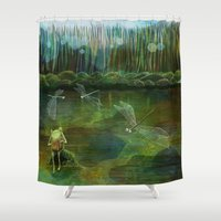 Frog on his Rock Shower Curtain