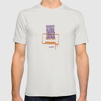 Wonder Soul Funk Mens Fitted Tee Silver SMALL