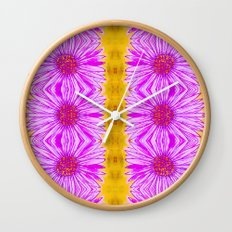 Purple Aster Flowers Wall Clock