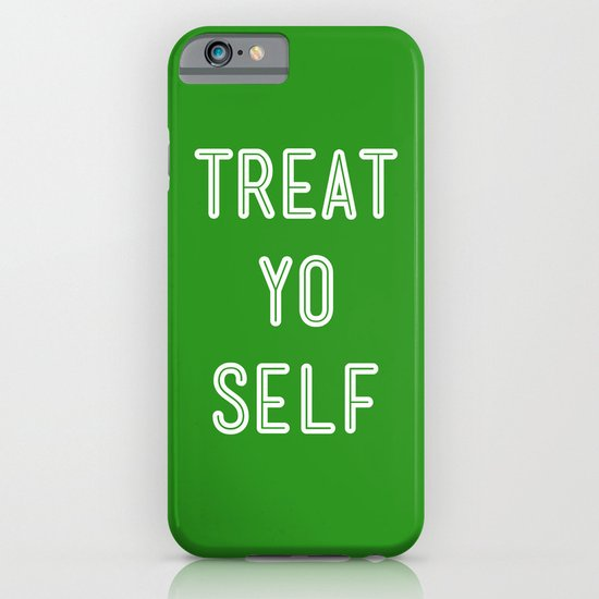 Treat Yo Self Green - Parks and Recreation iPhone & iPod Case