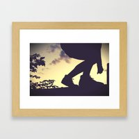 balanced silhouettes  Framed Art Print