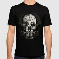 Room Skull B&W Mens Fitted Tee Black SMALL