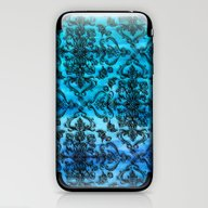Black Filigree Pattern O… iPhone & iPod Skin